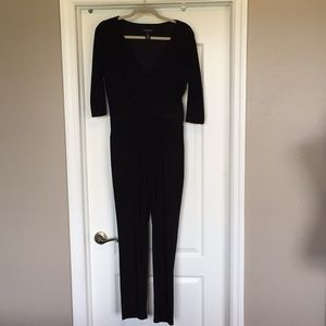 White House Black Market Black Jumpsuit Size 4